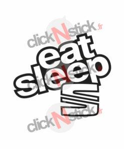 eat sleep seat sticker