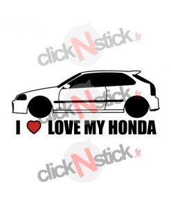 I love my Honda Civic stickers
