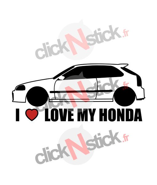 I love my Honda Civic stickers