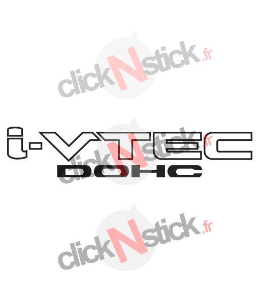 I-VTEC DOHC moteur honda stickers