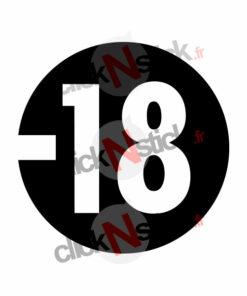 interdit aux moins de 18 ans stickers