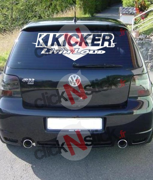 kicker audio spl démo flex sticker