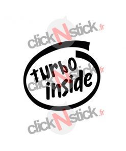 turbo inside intel inside look stickers