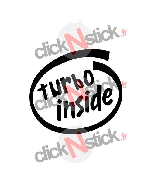 turbo inside intel inside look stickers