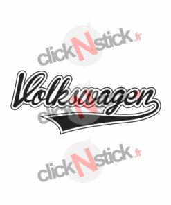 logo volkswagen vw classic souligné stickers