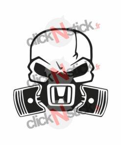 Honda skull crâne sticker