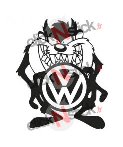 Taz cartoon Volkswagen VW sticker
