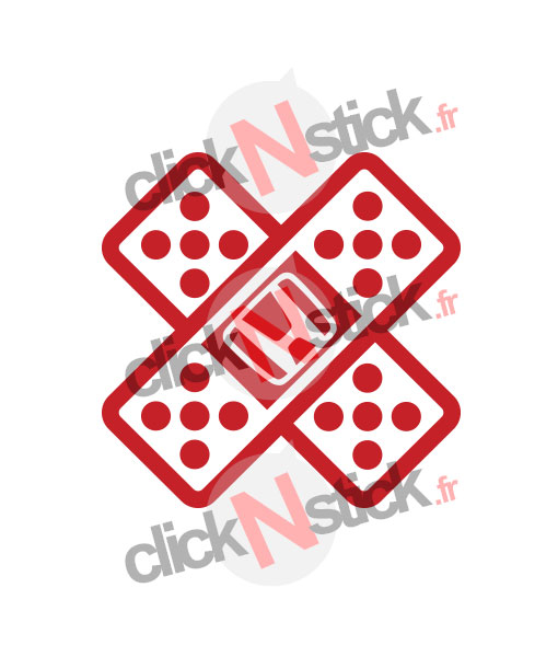 pansement fail stickers honda jdm