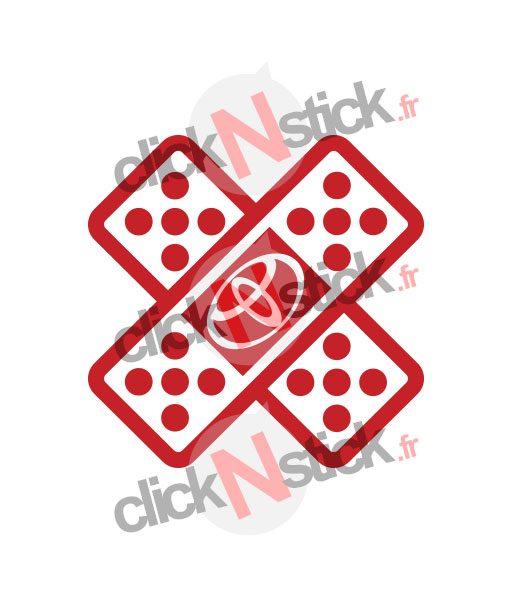 pansement fail stickers toyota jdm