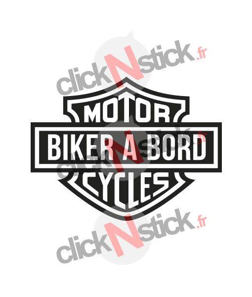 sticker biker à bord harley davidson