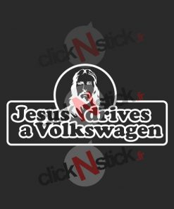 jesus drives a volkswagen vw stickers