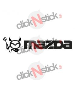 sticker logo mazda diable