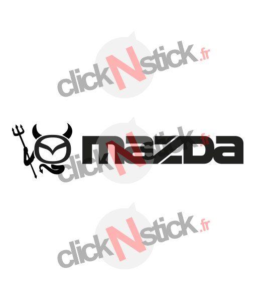 sticker logo mazda diable