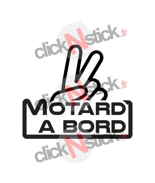 sticker motard à bord signe moto