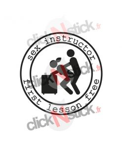 sex instructor first lesson free sticker