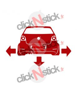 volkswagen down n out stickers