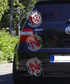 vw volkswagen couronne king stickers