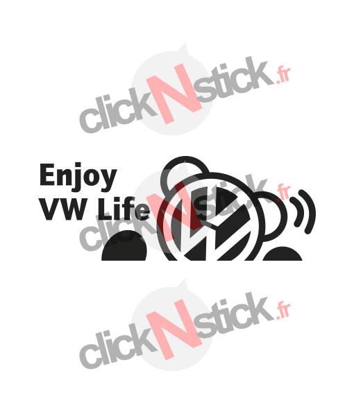 enjoy vw volkswagen life sticker