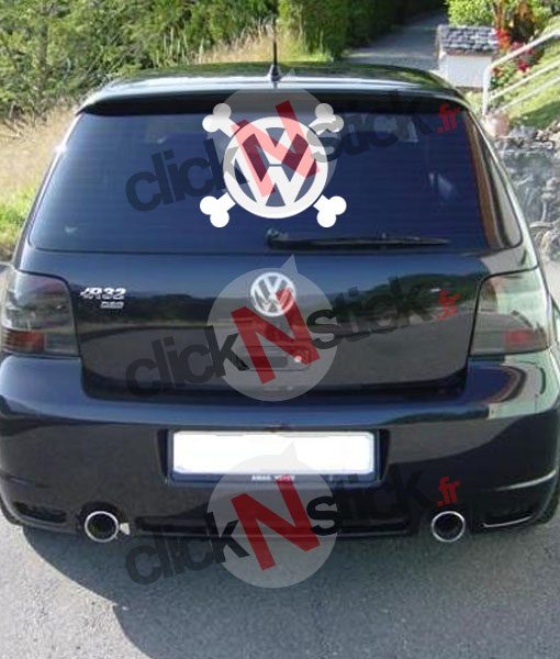 VW volkswagen pirate sticker