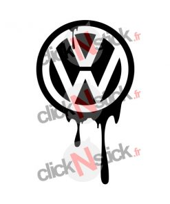 volkswagen vw coulée encre stickers