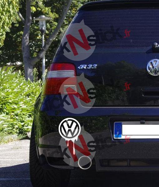 volkswagen vw coulée encre sticker