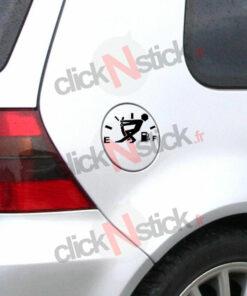 jauge essence gasoil carburant stickers humour