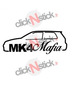 Sticker vw golf mk4 mafia