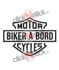 biker à bord Harley Davidson sticker