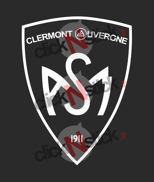 Stickers nouveau logo ASM clermont auvergne rugby