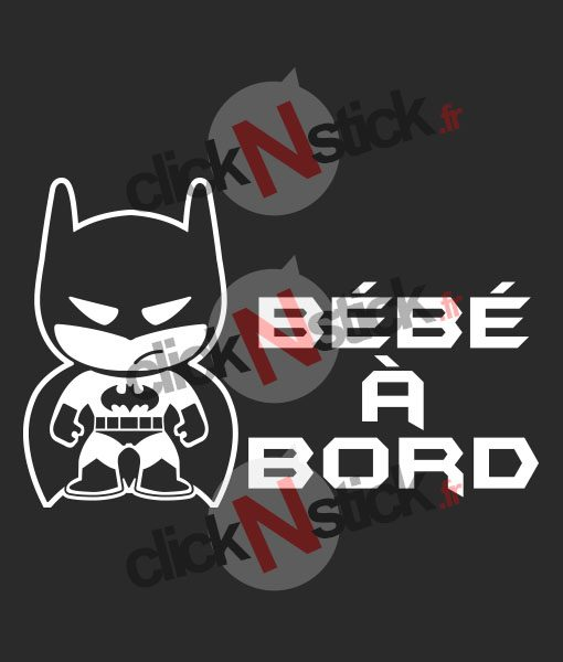 sticker bébé à bord batman