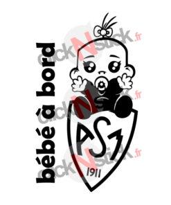 bébé à bord ASM clermont rugby fille
