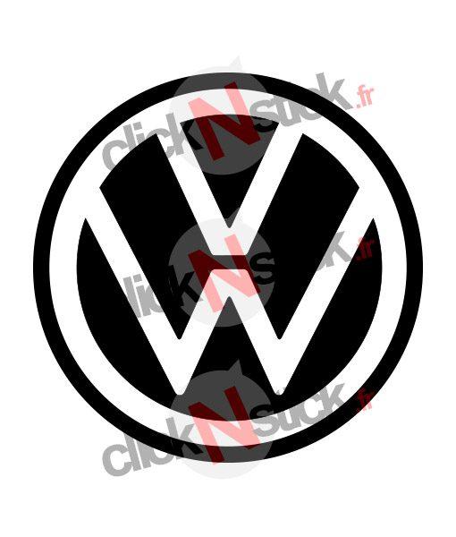 Volkswagen VW nouveau logo 2019 sticker