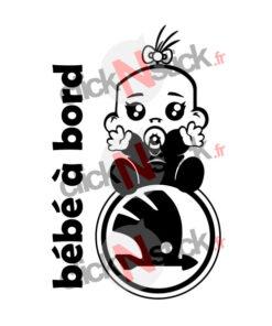 Stickers bébé à bord skoda garçon ou fille