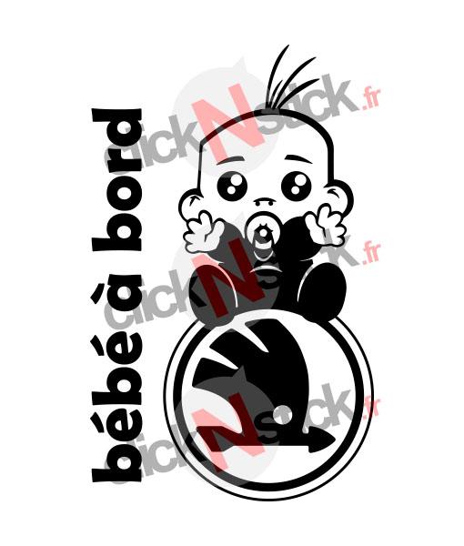 Sticker bébé à bord skoda garçon ou fille
