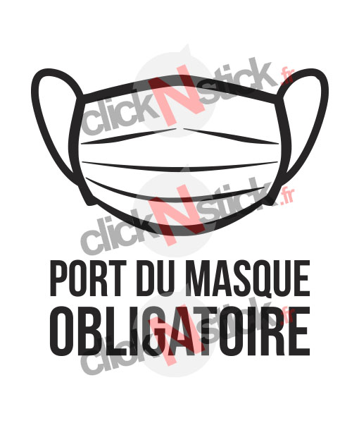 sticker port du masque obligatoire