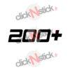 sticker 200+ cv puissance