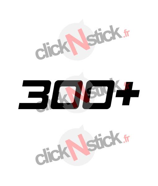 sticker 300+ cv puissance