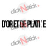 D'or et de Platine logo Jul sticker