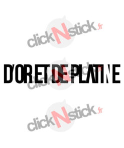 D'or et de Platine logo Jul sticker