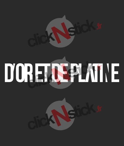D'or et de Platine logo Jul stickers