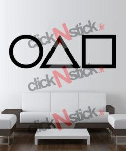 sticker symboles squid game rond carré triangle série netflix